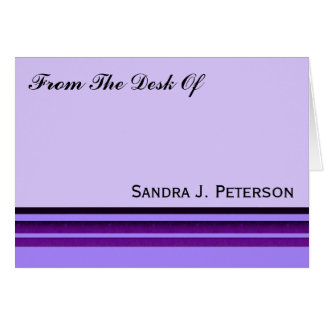 Purple Business Stripes Note Card