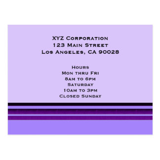 Purple Business Stripes Postcard