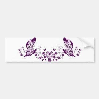 Purple Butterflies Bumper Sticker
