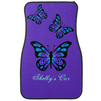 Purple Butterflies Custom Car Mats Car Mat