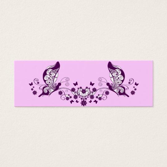 Purple Butterflies Mini Business Card
