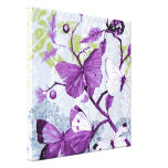 Purple Butterflies on a Branch Gallery Wrapped Canvas