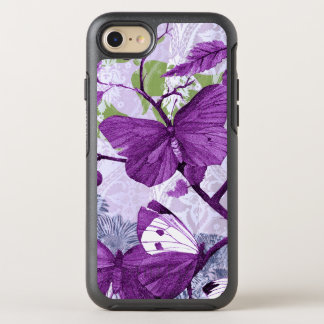 Purple Butterflies on a Branch OtterBox Symmetry iPhone 7 Case