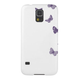 Purple Butterflies on a white background Galaxy S5 Case
