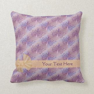 Purple Butterflies Personalized American MoJo Pill Cushion