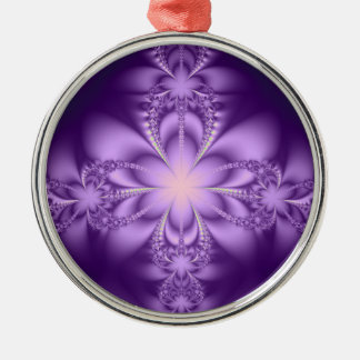 Purple butterflower christmas ornament