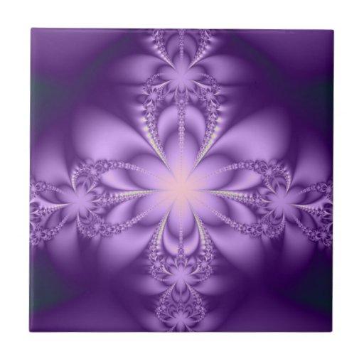 Purple butterflower tiles