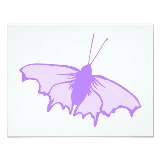 Purple Butterfly. 11 Cm X 14 Cm Invitation Card
