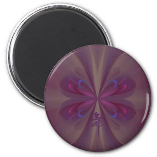 Purple Butterfly Abstract Art Magnet