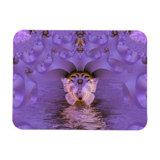 Purple Butterfly Abstract Flexible Magnet