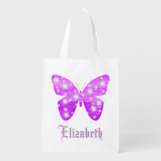 Purple butterfly and stars personalized with name