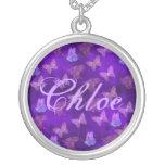 Purple Butterfly Art Jewelry