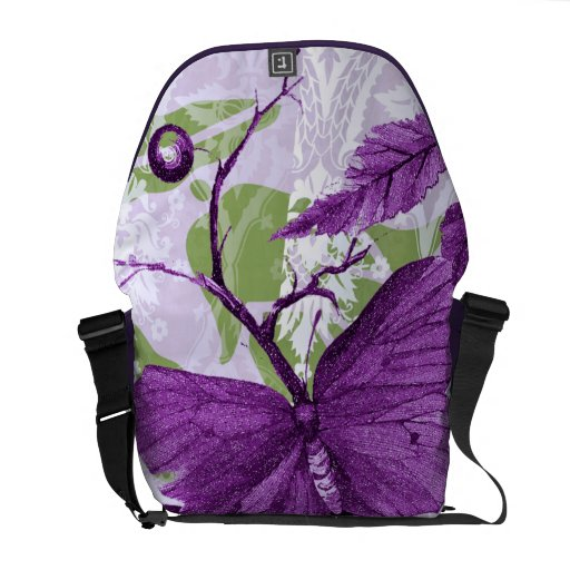 Purple Butterfly at the Window Commuter Bags