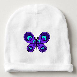 Purple Butterfly Baby Beanie