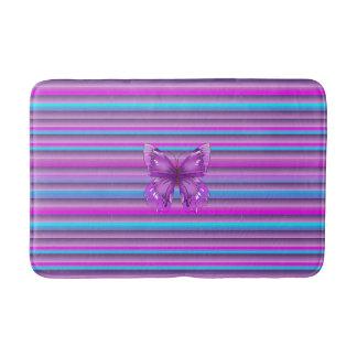 Purple Butterfly Bath Mats