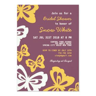 Purple Butterfly Bridal Shower Wedding Invitation