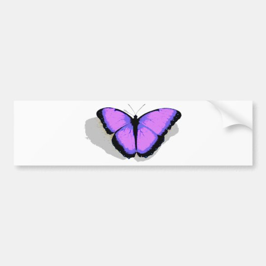 Purple Butterfly! Bumper Sticker
