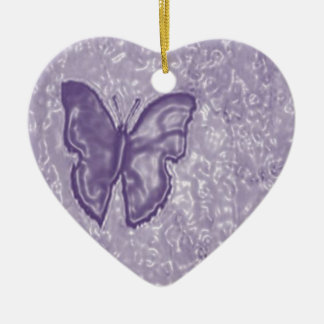 Purple Butterfly Christmas Ornament