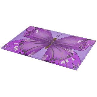 Purple Butterfly Cutting Board