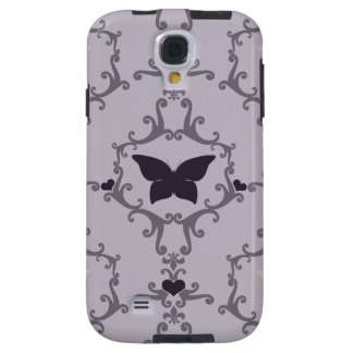 Purple Butterfly Damask Galaxy S4 Case