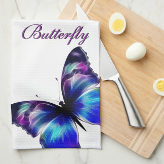 Purple Butterfly Dance American MoJo Kitchen Towel