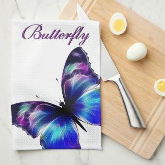 Purple Butterfly Dance American MoJo Kitchen Towel