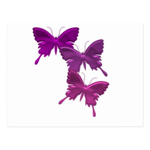 Purple Butterfly Design Postcard