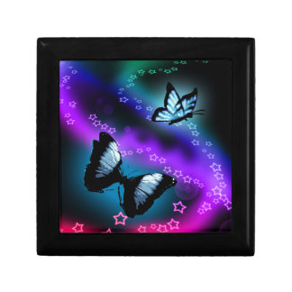 Purple Butterfly Genesis Small Square Gift Box
