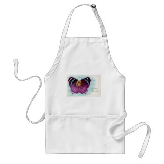 Purple Butterfly Girl Vintage Birthday Aprons