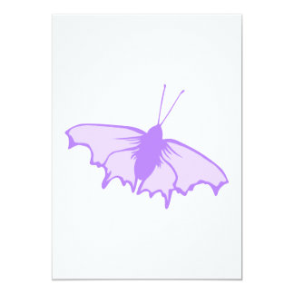 Purple Butterfly. 5x7 Paper Invitation Card