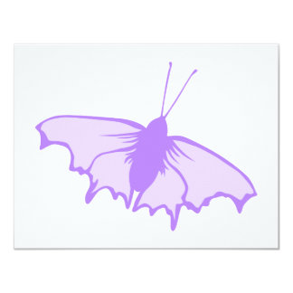 Purple Butterfly. 4.25x5.5 Paper Invitation Card