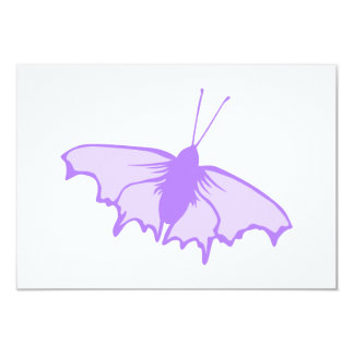 Purple Butterfly. 3.5x5 Paper Invitation Card