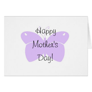 Purple Butterfly Mother's Day Card