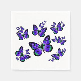 Purple Butterfly Paper Serviettes