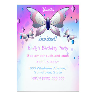 Purple butterfly party invitations (Customizable!)