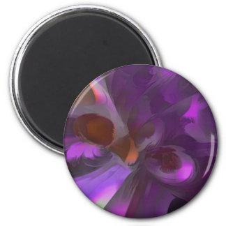 Purple Butterfly Pastel Abstract Fridge Magnet