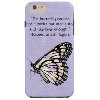 Purple Butterfly Quote Cell Phone Case