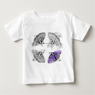 Purple Butterfly sketch Baby T-Shirt
