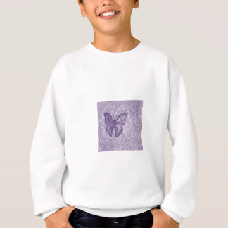 Purple Butterfly Sweatshirt