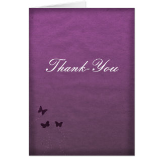 Purple Butterfly Thank-You Card