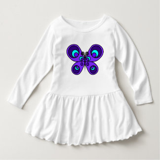 Purple Butterfly Toddler Ruffle Dress