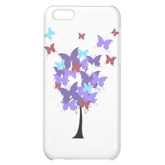 Purple Butterfly Tree iPhone 5C Covers