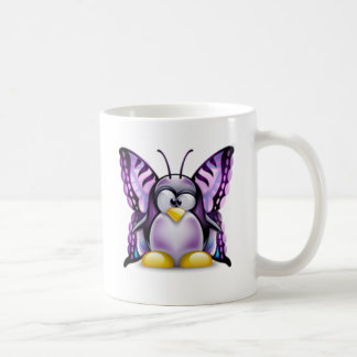 Purple Butterfly Tux (Linux Tux) Coffee Mug