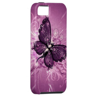 purple butterfly vector art iPhone 5 covers