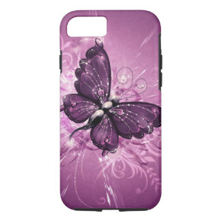 purple butterfly vector art iPhone 7 case