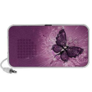 purple butterfly vector art PC speakers