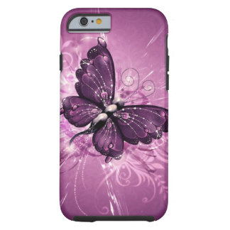 purple butterfly vector art tough iPhone 6 case