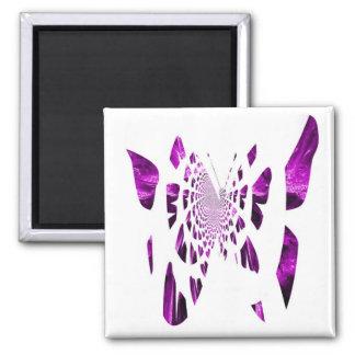 Purple Butterfly Wings Refrigerator Magnet