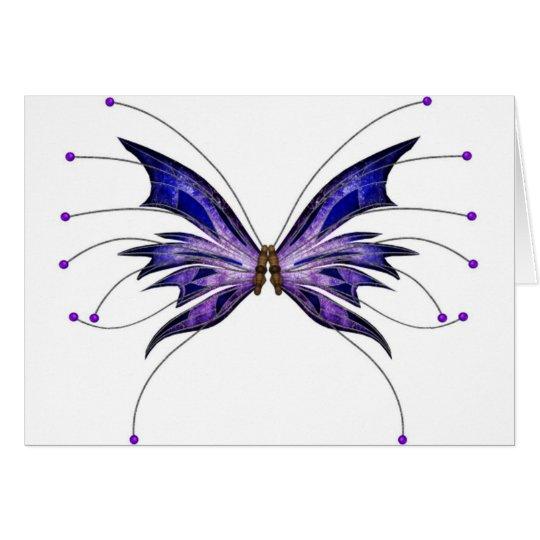 Purple butterfyly card