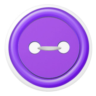 Purple Button Drawer Pull